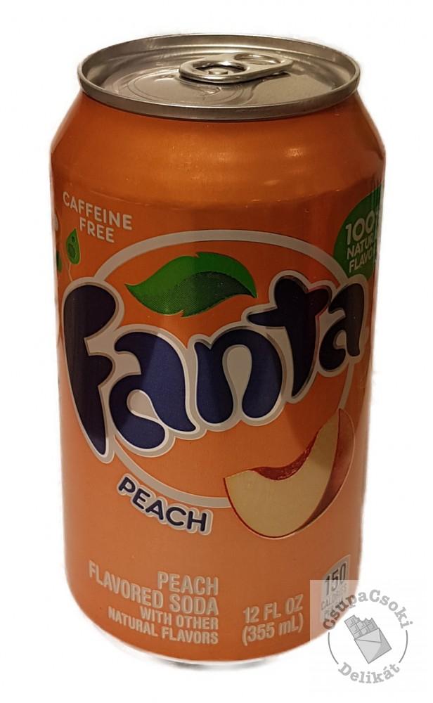 Fanta Peach Barack ízesítésű amerikai szénsavas üdítő 355ml