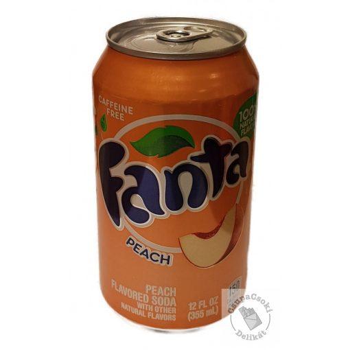 Fanta Peach Barack ízesítésű szénsavas amerikai üdítő 355ml
