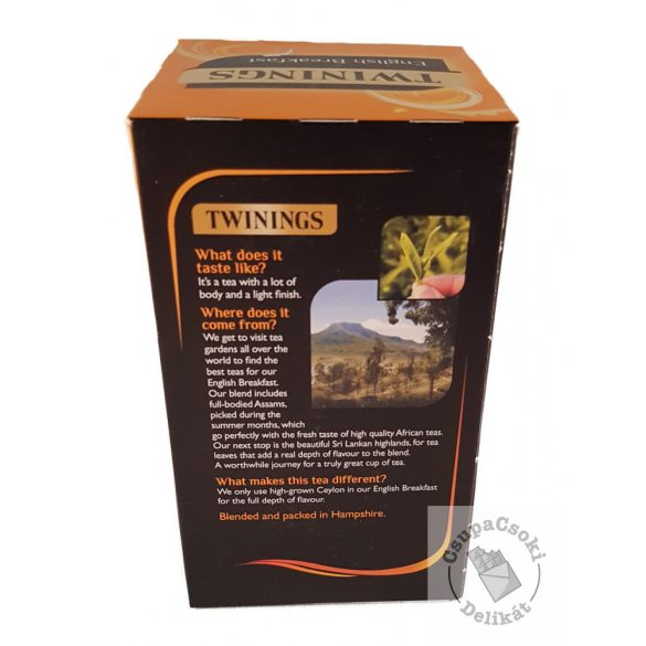 Twinings English Breakfast Fekete tea 50 filter, 125g