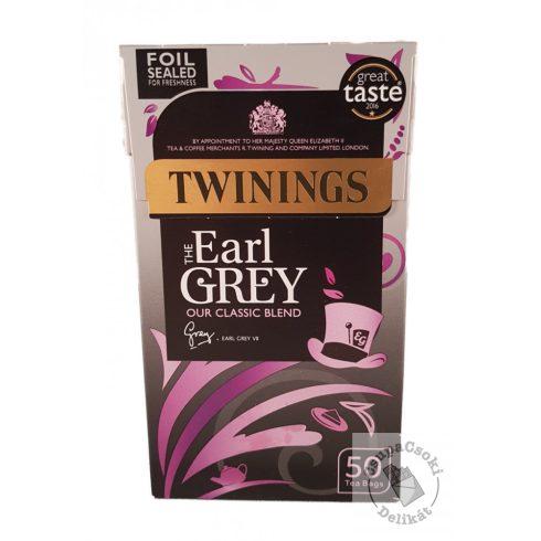 Twinings Earl Grey Fekete tea 50 filter, 125g