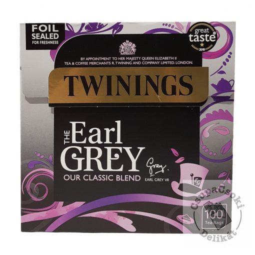 Twinings Earl Grey Fekete tea 100 filter, 250g