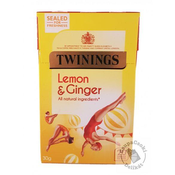 Twinings Lemon&Ginger Gyümölcstea citrommal és gyömbérrel 20 filter, 30g