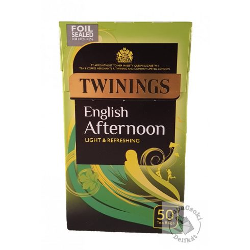 Twinings English Afternoon Fekete tea 50 filter, 125g