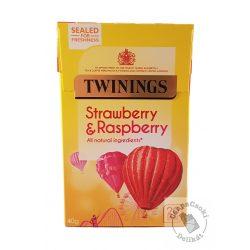 Twinings Strawberry&Raspberry Gyümölcstea eperrel és málnával 20 filter, 40g