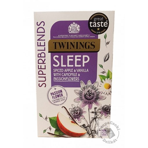 Twinings Sleep Fűszeres alma tea kamillával és golgotavirággal 20 filter, 30g