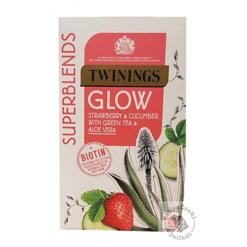 Twinings Glow Zöld tea eperrel, uborkával és aloe verával 20 filter, 40g
