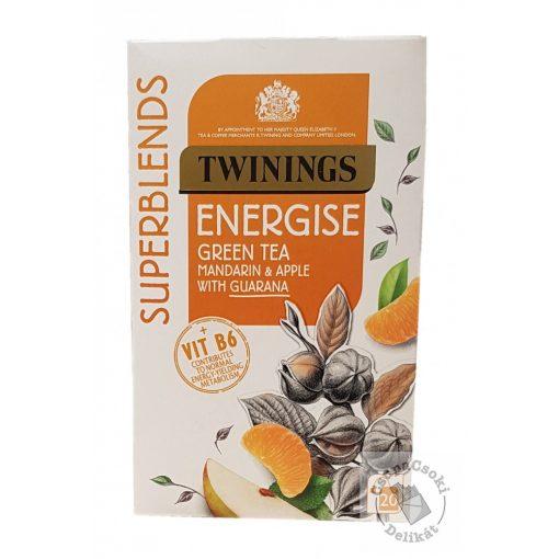 Twinings Energise Zöld tea mandarinnal. almával és guarana-val 20 filter, 40g