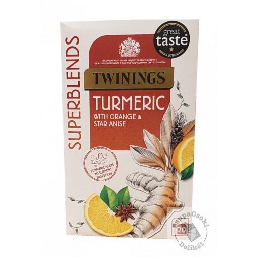 Twinings Turmeric Kurkuma tea naranccsal és csillagánizzsal 20 filter, 40g