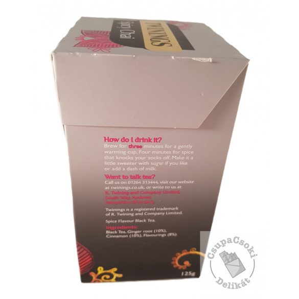 Twinings Spicy Chai Fekete tea fűszerekkel 50 filter, 125g