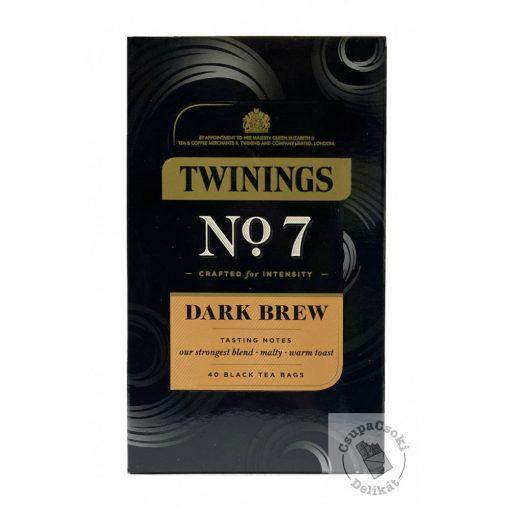Twinings No7 Dark Brew Fekete tea 40 filter, 108g