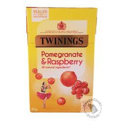 Twinings Pomegranate&Raspberry Gyümölcstea gránátalmával és málnával 20 filter, 40g