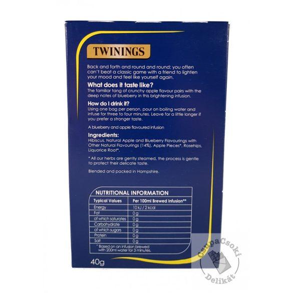 Twinings Blueberry&Apple Gyümölcstea áfonyával és almával 20 filter, 40g