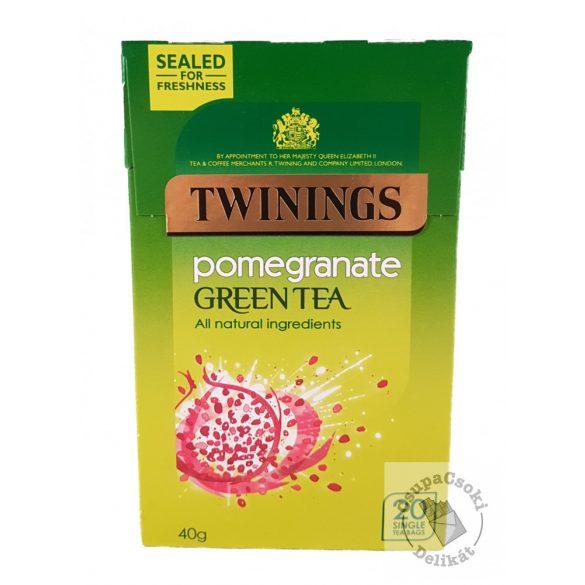 Twinings Pomegranate Zöld tea gránátalma ízesítéssel 20 filter, 40g
