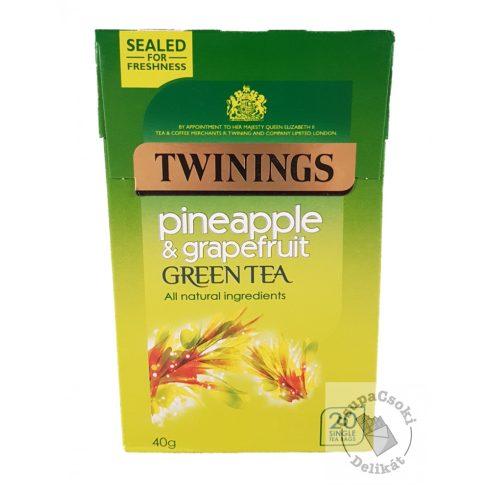 Twinings Pineapple&Grapefruit Zöld tea ananász és grapefruit ízesítéssel 20 filter, 40g