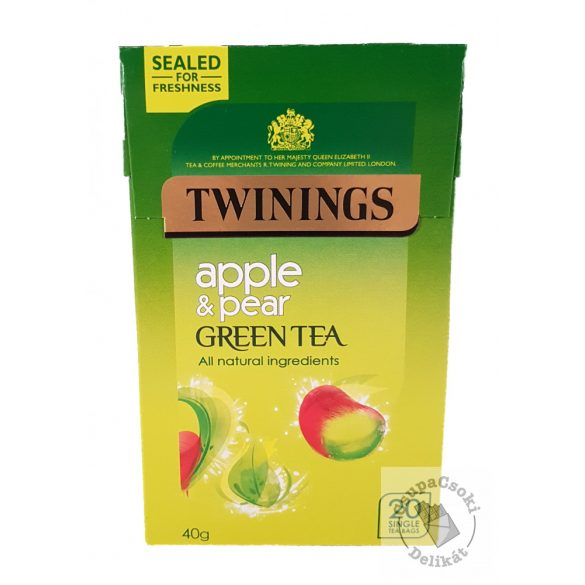 Twinings Apple&Pear Zöld tea alma és körte ízesítéssel 20 filter, 40g