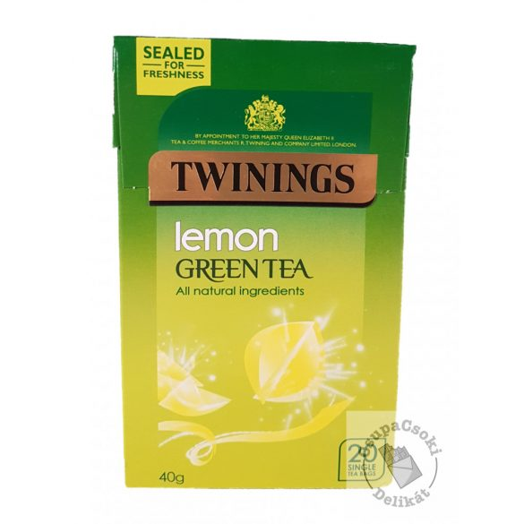 Twinings Lemon Zöld tea citrom ízesítéssel 20 filter, 40g
