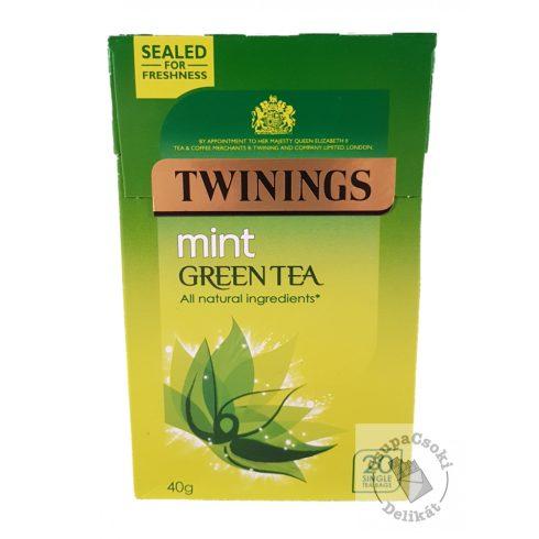 Twinings Mint Zöld tea mentával 20 filter, 40g
