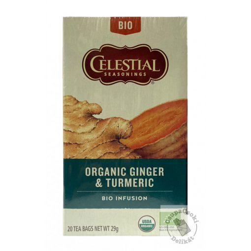 Celestial Organic Ginger&Turmeric Bio gyömbér-kurkuma tea 20 filter 29g