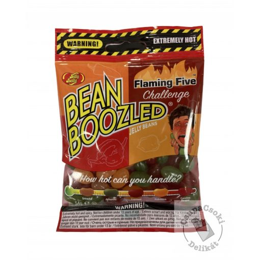 JellyBelly Bean Boozled Flaming Five Cukorka chillivel 54g