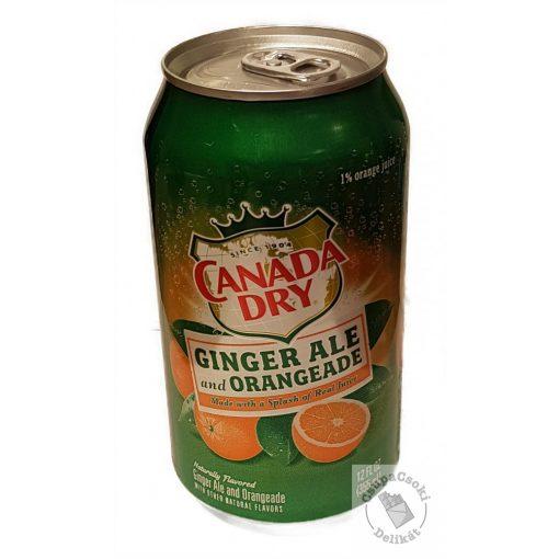 Canada Dry Ginger Ale and Orangeade Narancs ízesítésű szénsavas amerikai üdítő 355ml