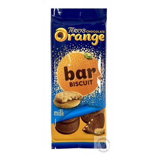 Terrys Biscuit Narancsos-kekszes tejcsokoládé tábla 90g