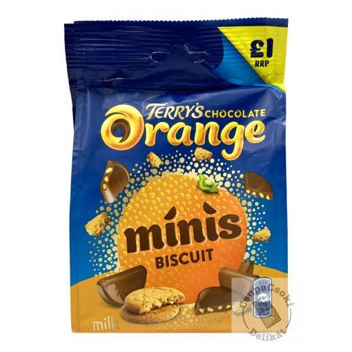 Terry's Chocolate Biscuit Orange Minis Narancsos-kekszes tejcsoki szeletek 90g