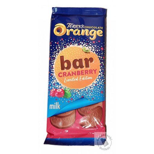Terry's Chocolate Orange Cranberry Narancsos-áfonyás táblás tejcsokoládé 90g