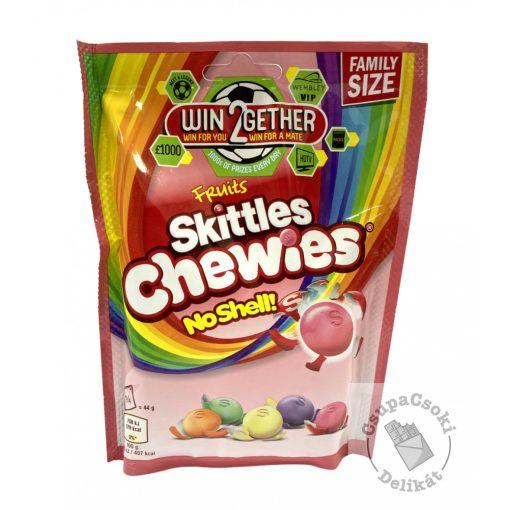 Skittles Chewies No Shell Cukorka gyümölcsös ízesítéssel 176g
