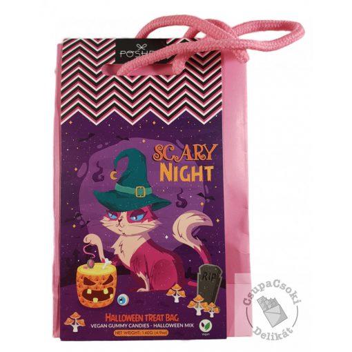 Poshpin Halloween Treat Bag Vegan Gumicukor cica 140g