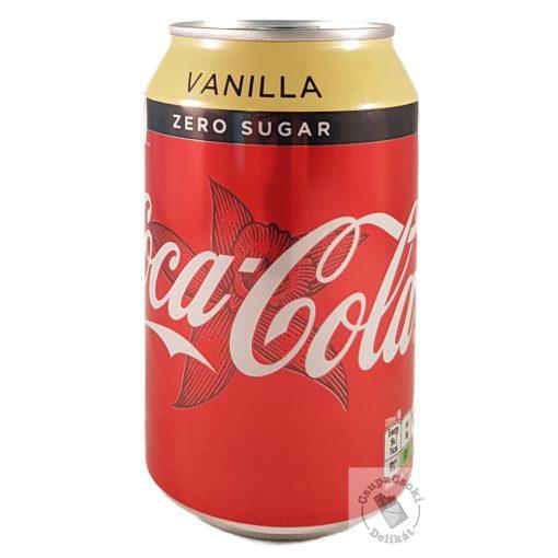 Coca-Cola Zero Vanilla Vaníliás cukormentes üdítő édesítőszerekkel 330ml