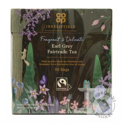 Co-op Earl Grey Fairtrade fekete tea, 50 filter, 125g