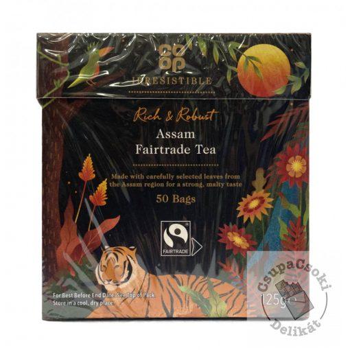 Co-op Assam Fairtrade fekete tea, 50 filter, 125g