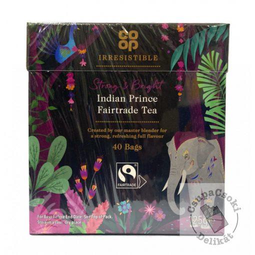 Co-op Indian Prince Fairtrade fekete tea, 50 filter, 125g