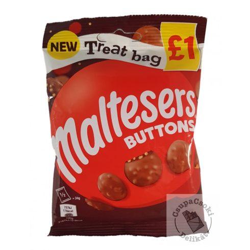 Maltesers Buttons Tejcsokoládé korongok törökméz darabokkal 68g