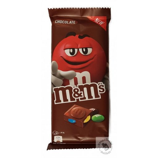 M&M's Chocolate Táblás tejcsokoládé csokidrazséval 165g