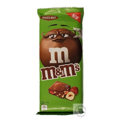 M&M's Hazelnut Táblás tejcsokoládé törökmogyoróval 165g