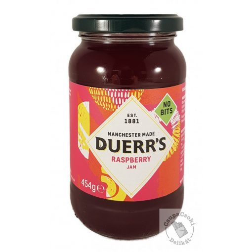 Duerr's Raspberry Jam Málna dzsem magnélküli 454g