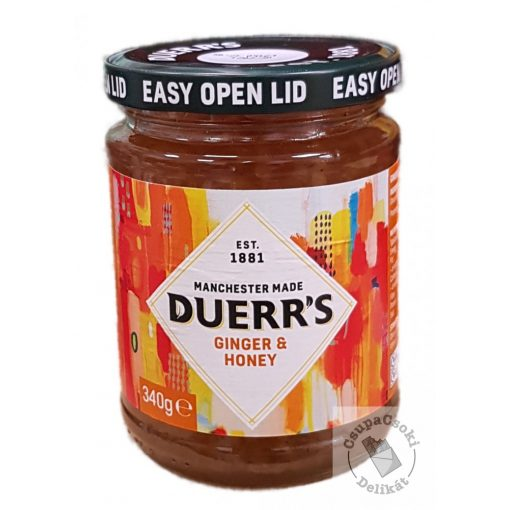 Duerr's Ginger&Honey Gyömbér lekvár mézzel 340g