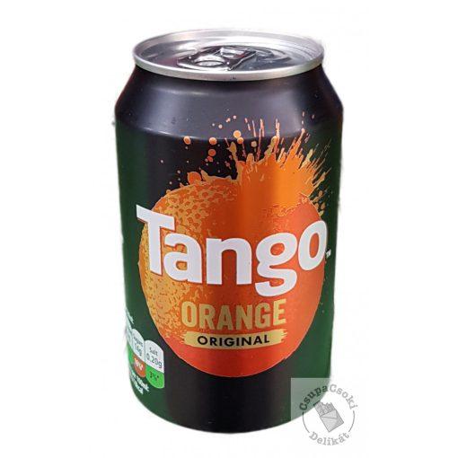 Tango Orange Narancs ízesítésű szénsavas üdítő cukorral és édesítőszerekkel 330ml