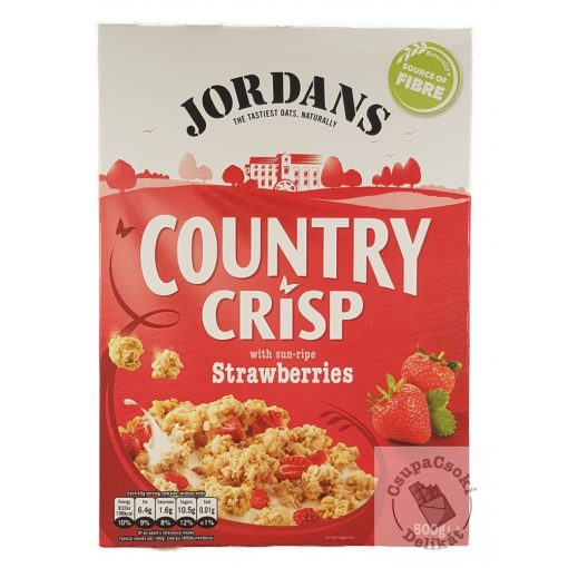 Jordans Country Crisp Strawberries Gabonapehely eperrel 500g