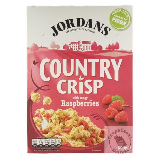 Jordans Country Crisp Raspberries Gabonapehely málnával 500g