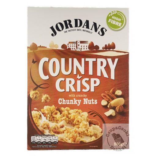Jordans Country Crisp Chunky Nuts Gabonapehely többféle dióval 500g