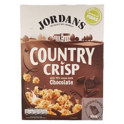 Jordans Country Crisp Chocolate Gabonapehely étcsokoládéval 500g