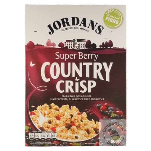Jordans Country Crisp Super Berry Gabonapehely bogyós gyümölcsökkel 500g