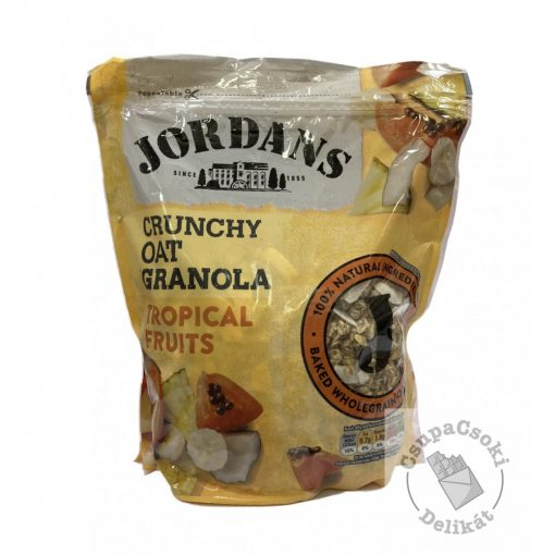 Jordans Tropical Fruits Granola trópusi gyümölcsökkel 750g