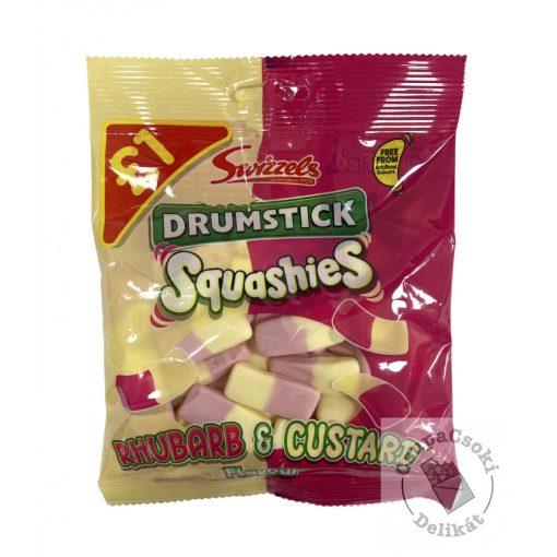 Swizzels Drumstick Rhubarb&Custard Rebarbara ízesítésű karamell 145g