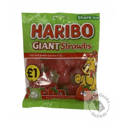 Haribo Giant Strawbs Gyümölcsös gumicukor 160g