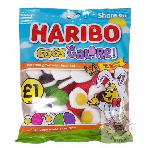 Haribo Eggs Galore Húsvéti gumicukor 160g