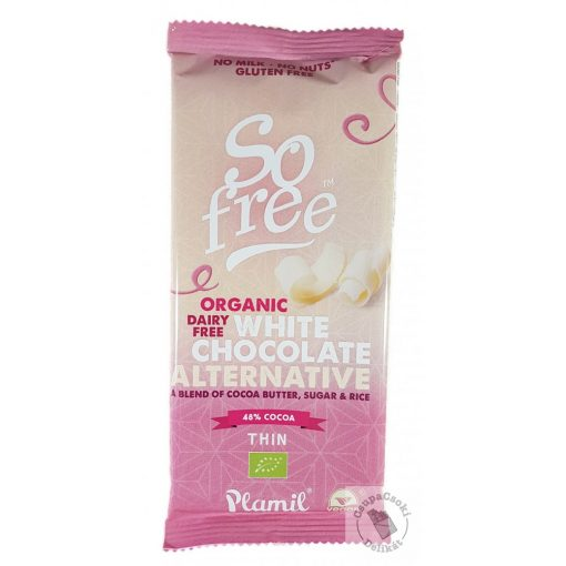 So Free Tejmentes és gluténmentes bio fehércsokoládé 70g