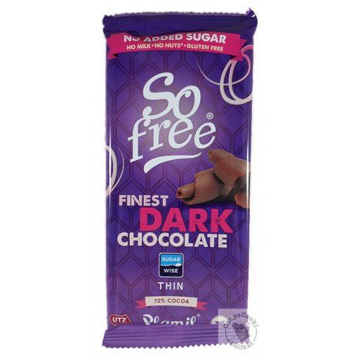 So Free Dark 72% Tejmentes, gluténmentes étcsokoládé hozzáadott cukor nélkül 80g